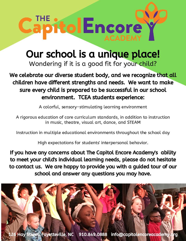 Enrollment Information – The Capitol Encore Academy